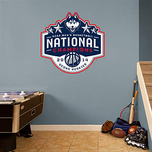 UConn Huskies 2014 NCAA Men's Basketball Champions Logo Fathead Wall Decal